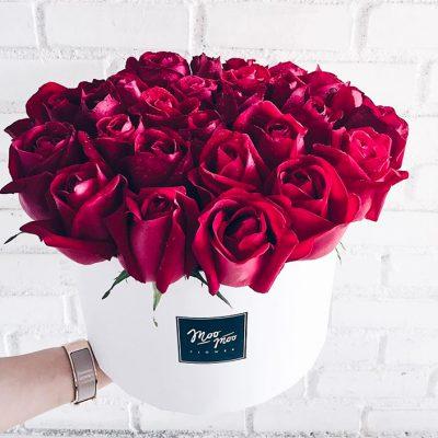 กล่องดอกกุหลาบสีแดง