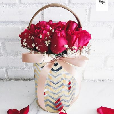 กระเช้าดอกไม้ Valentine Day