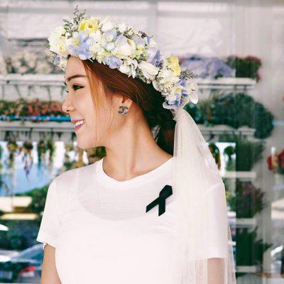 สวยเหมือนฝันกับมงกุฎดอกไม้สดเจ้าหญิง