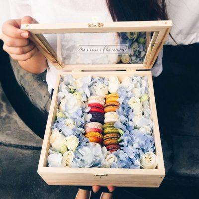 โดนใจใช่เลยกับกล่องดอกไม้มาการอง